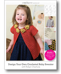 design your own baby crocheted sweater DVD