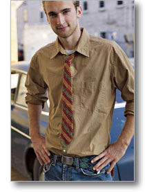 bias knit tie