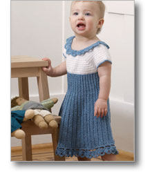 Summer Blues Baby Dress