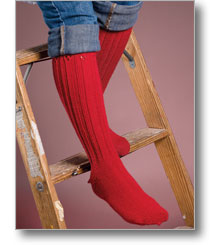daring red boot socks