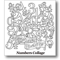 "Numbers Collage12"" Stencil"