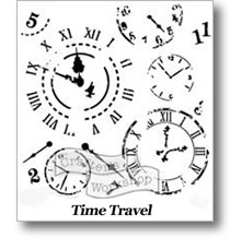 "Time Travel 12"" Stencil"