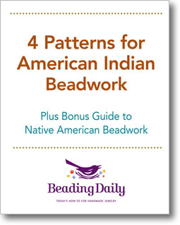 Get your 4 free beading loom and beadwork patterns today, when you download your free eBook!