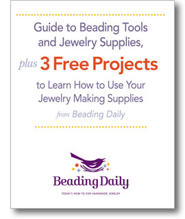 Get your free guide to beading supplies plus three projects to learn how to use your bead stringing supplies when you download this free eBook!