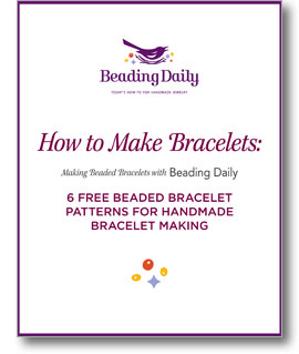 Make a bracelet with free bracelet patterns from Beading Daily