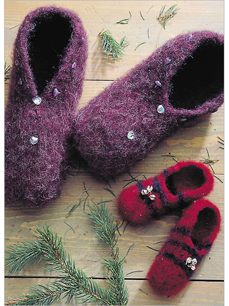 Knitting Pattern For Felted Slippers : PATTERN FELTED SLIPPERS - Browse Patterns