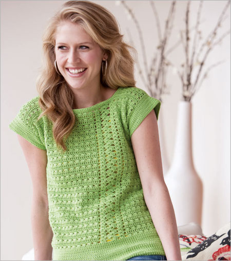 Ravelry: Sundance Not-Yellow Crochet Top-Down Tank pattern by