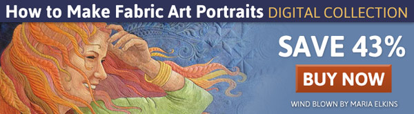 How to Make Fabric Art Portraits Digital Collection