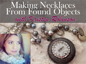 Making Necklaces from Found Objects