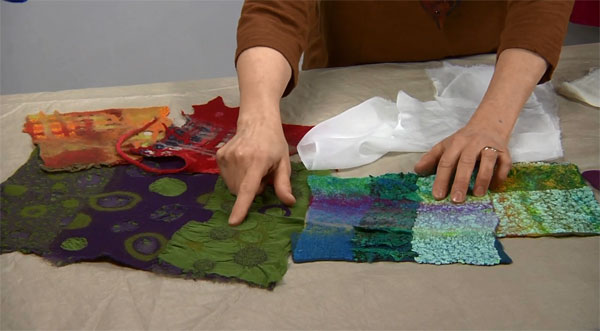 Learn how to make puckered, embellished fabric with nuno felting in this exclusive video download with felting expert Sharon Costello.