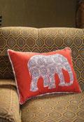 Royal Elephant Pillow Cover