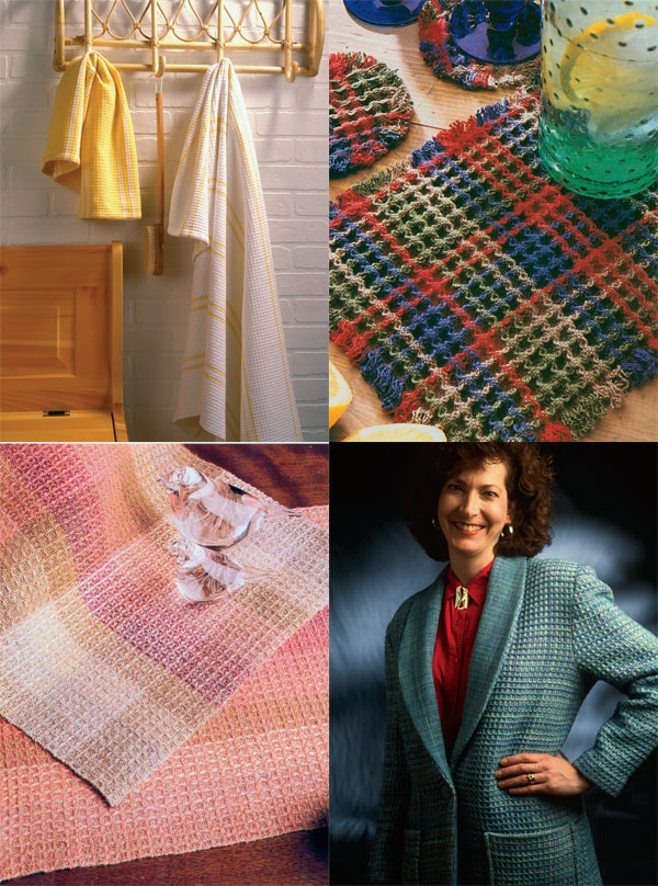 From creating a waffle weave blanket and more, you'll find the perfect waffle weave project in the eBook, Best of Handwoven: Projects in Waffle Weave.