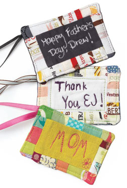 Personalized Gift Tags and Name Tags from 101 Patchwork Gifts and Quilts.
