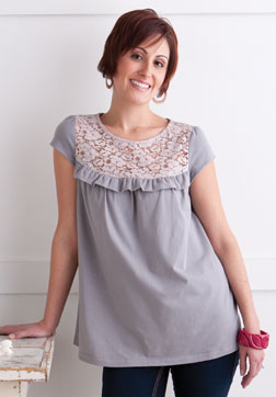 Lace Ruffle Tunic by Beki Wilson.