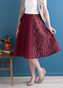 Poetry Skirt by Katrin Vorbeck.
