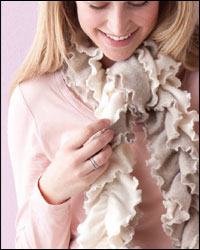 Curly Cashmere Scarf