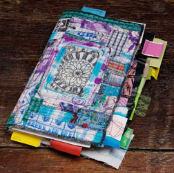 Keep fabric and color inspiration in a handy swatch journal.