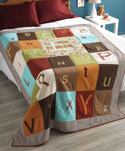 Alphabet Soup Quilt designed by Rachel Hauser.