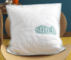 Quilted Text Pillow designed by Missy Shepler.