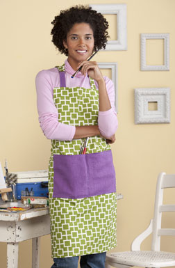 Hobby Apron designed by Erin Harris.