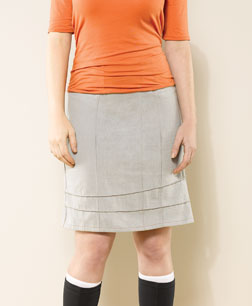 Pin Tuck Skirt by Beki Wilson