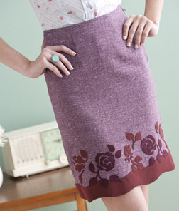 Suede Appliqued Skirt by Carol Zentgraf