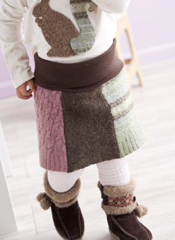 Woodland Sweater Skirt by Amanda Norell.