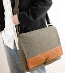 Well-Suited Messenger Bag by Susan Wasinger.