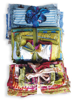 Organize your fabric into coordinated bundles.