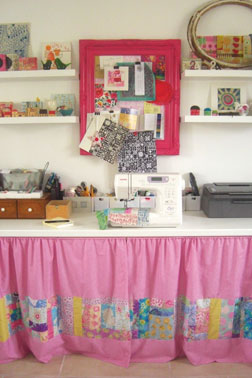 Fabric designer Lucie Summers' cheerful studio