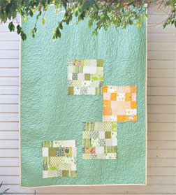 Alissa Haight Carlton's Yellow Pop quilt shows off modern quilting style.