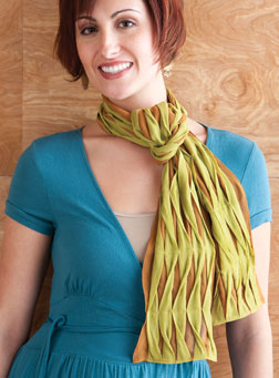 Undulating Pleat Scarf by Katrina Walker