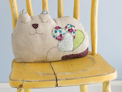 Cat Pillow by Eva Hanusova.
