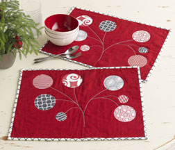 Ornament Tree Placemats by Jacquie Gering.