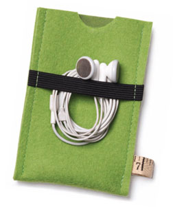 Elastic keeps a set of earbuds close-at-hand.