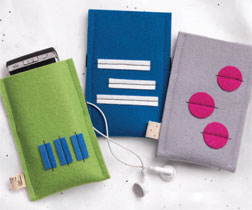 """Felt Smartphone Covers"" by Lisa Cox."