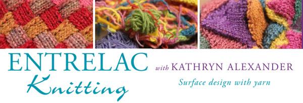 entrelac knitting DVD banner