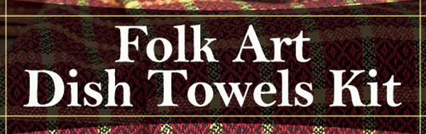 Folk Art Dish Towels
