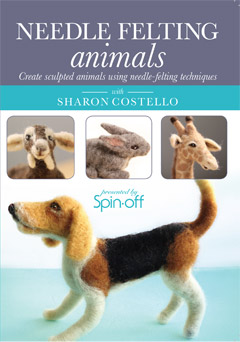 needle felting animals DVD cover