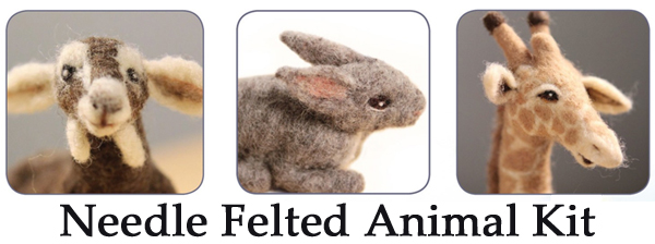 needle felting animals kit