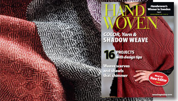 Get the Handwoven magazine 2012 Collection CD, featuring waffle weave, shadow weave, and fabric embellishments
