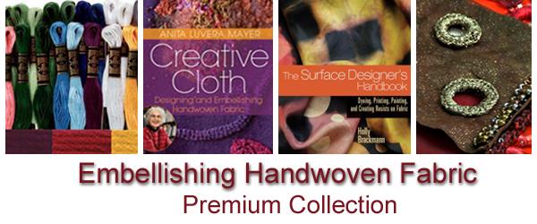 Embellishing Handwoven Fabric