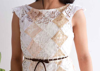 Blouse Sewing Pattern, Design #1: Patchwork Lace Top