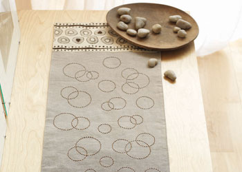 Machine and Hand Sewing a Table Runner: Fizz Table Runner