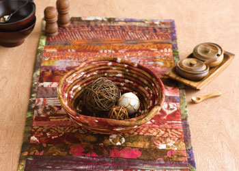 A Table Runner Pattern with Texture: Ghanaian Batik Tablescape