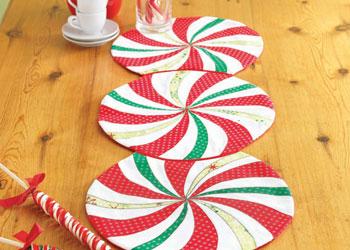 Festive Table Runner Pattern: Candy Table Runner