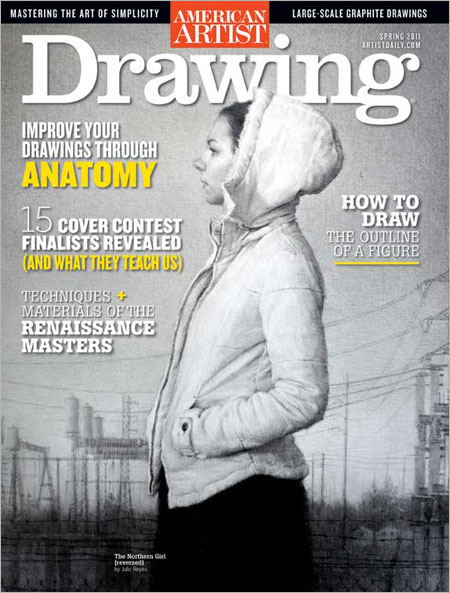 Holly Bedrosian Fine Art Drawing Magazine Cover Competition